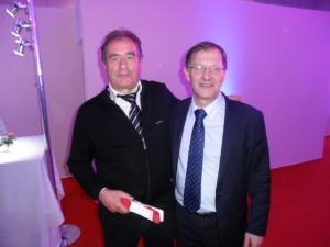 Bertrand et Francis Didier, président de la FFKDA